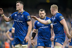 May 27, 2018 - Dublin, Ireland - James Ryan, Cian Healy and Rory O'Loughlin of Leinster during the Guinness PRO14 Final match between Leinster Rugby and Scarlets at Aviva Stadium in Dublin, Ireland on May 26, 2018  (Credit Image: © Andrew Surma/NurPhoto via ZUMA Press)