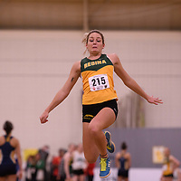 Madison Wickenheiser in action during the 2018 Canada West Track & Field Championship on February  23 at James Daly Fieldhouse. Credit: Arthur Ward/Arthur Images