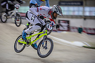 #87 (WHYTE Kye) GBR during practice at the 2019 UCI BMX Supercross World Cup in Manchester, Great Britain