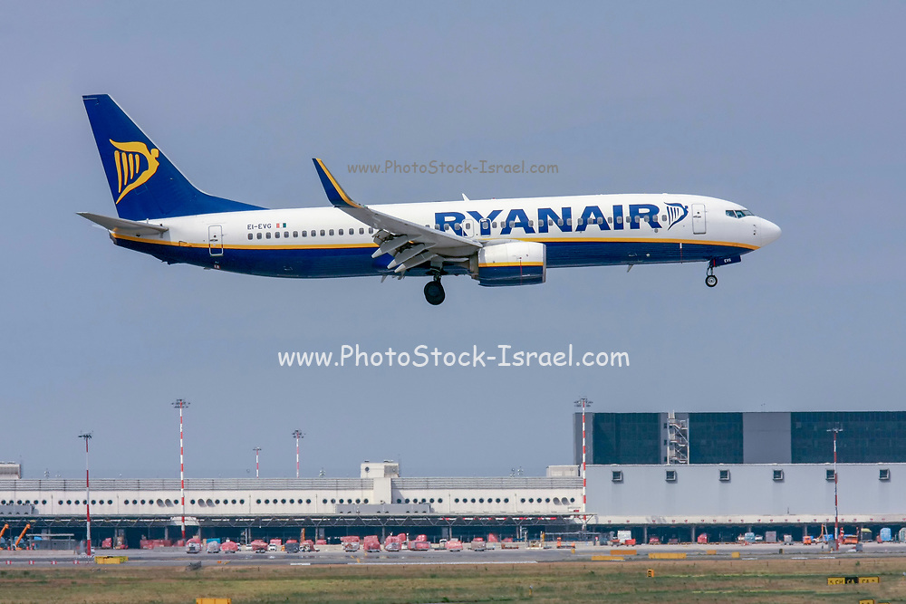 Ryanair Boeing 737-800 Next Gen, (EI-EVG ), ready for take off. at Malpensa (MXP / LIMC), Milan, Italy