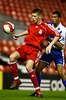 Fotball<br /> Foto: Propaganda/Digitalsport<br /> NORWAY ONLY<br /> <br /> Liverpool, England - Friday, January 26, 2007: Liverpool's Craig Lindfield and Reading's Adam Bygrave during the FA Youth Cup 5th Round match at Anfield.