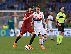 April 18, 2018 - Rome, Italy - Stephan El Shaarawy during the Italian Serie A football match between A.S. Roma and AC Genoa at the Olympic Stadium in Rome, on april 18, 2018. (Credit Image: © Silvia Lore/NurPhoto via ZUMA Press)