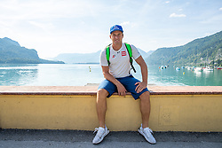 17.07.2019, Sankt Gilgen, AUT, OeSV, Pressetermin Herren Speed Team, Wasserskifahren und Wakesurfen beim Wolfgangsee, im Bild Matthias Mayer // Matthias Mayer during a press conference of the Austrian Ski Association (OeSV), Mens Speed Team waterskiing and wakesurfing at the Wolfgangsee Sankt Gilgen, Austria on 2019/07/17. EXPA Pictures © 2019, PhotoCredit: EXPA/ Johann Groder