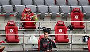 Manuel Neuer #1 von FC Bayern Muenchen und Thomas Müller Mueller #25 von FC Bayern Muenchen auf der Tribüne During the Bayern Munich vs SC Freiburg Bundesliga match  at Allianz Arena, Munich, Germany on 20 June 2020.