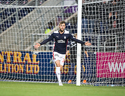 Falkirk's Rory Loy celebrates after scoring their goal. Falkirk 1 v 3 Rangers, Scottish League Cup game played 23/9/2014 at The Falkirk Stadium.
