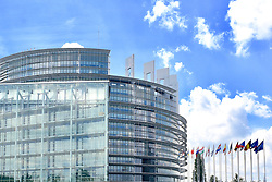 View of the European Parliament in Strasbourg, eastern France, on May 23, 2019, ahead of upcoming European elections. European elections will be held from May 22 to 26, 2019. Photo by Nicolas Roses/ABACAPRESS.COM