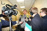 Burton Albion's Ben Turner post-match interview during the EFL Sky Bet Championship match between Burton Albion and Ipswich Town at the Pirelli Stadium, Burton upon Trent, England on 28 October 2017. Photo by John Potts.