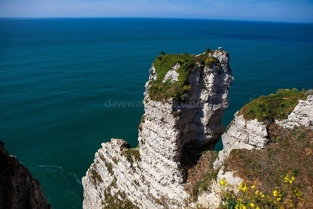 Cliffs in Etretat, Normandy, France
