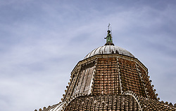 THEMENBILD - Spitze des Baptisterium beim Schiefen Turm von Pisa, aufgenommen am 24. Juni 2018 in Pisa, Italien // the Baptistery of San Giovanni by the Leaning Tower of Pisa, Pisa, Italy on 2018/06/24. EXPA Pictures © 2018, PhotoCredit: EXPA/ JFK