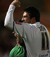 Photo: Paul Thomas.<br /> Port Vale v Norwich City. Carling Cup. 24/10/2006.<br /> <br /> Jeff Smith (R) of Vale celebrates with his keeper Mark Goodlad after shooting in the winning penalty.