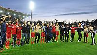 Fotball<br /> Tyskland<br /> 01.06.2015<br /> Foto: Witters/Digitalsport<br /> NORWAY ONLY<br /> <br /> Schlussjubel HSV<br /> Fussball Bundesliga, Relegation Rueckspiel, Karlsruher SC - Hamburger SV 1:2 n.V.