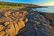 Rocky shoreline along the Bay of Fundy at FLour Cove<br />Long Island on DIgby Neck<br />Nova Scotia<br />Canada