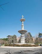 Fountain Parque Del Oeste, Madrid, Spain