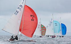 International Dragon Class Edinburgh Cup 2015.<br /> <br /> The first days racing in a strong southerly.<br /> JPN50, YEVIS II, Bocci A Aoyama, Enoshima YC<br /> <br /> Credit Marc Turner