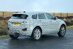 A new disguised Range Rover Evoque on the A939 Cockbridge to Tomintoul road this morning. This is probably the new 4 door 2019 model under test only avaiable in four door and is very quiet with an all eletric version rumoured to be on the cards. (c) Stephen Lawson | Edinburgh Elite media