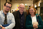 31/01/2018  retro free :  Brian Fox  with ProfessorPat Dolan,UNESCOChair in Children, Youth and Civic Engagement,with potter Judy Murphy at the launch of  at the launch of Wide Eyes, a unique one-off European arts extravaganza for babies and children aged 0 – 6. Hosted by Baboró, Wide Eyes will take place in Galway till Sun 4 February. This imaginative programme will feature 15 new theatre and dance shows from some of Europe's finest creators of Early Years work from Austria, Belgium, Denmark, Finland, France, Germany, Hungary, Italy, Poland, Romania, Slovenia, Spain, Sweden, UK and Ireland. For more see www.wideeyesgalway.ie<br /> <br /> Wide Eyes will welcome almost 200 artists and arts professionals from almost 20 countries to enthral and engage children over four jam-packed days. Photo:Andrew Downes, XPOSURE