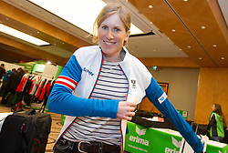 28.01.2014,  Marriott, Wien, AUT, Sochi 2014, Einkleidung OeOC, im Bild Katerina Smutna (Langlauf, AUT) // Katerina Smutna (Cross country, AUT) during the outfitting of the Austrian National Olympic Committee for Sochi 2014 at the  Marriott in Vienna, Austria on 2014/01/28. EXPA Pictures © 2014, PhotoCredit: EXPA/ JFK