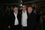 PETER BLAKE, DAMIEN HIRST AND BRADLEY HIRST, Beyond Belief-Damien Hirst. White Cube Hoxton and Mason's Yard.Party  afterwards at the Dorchester. Park Lane. 2 June 2007.  -DO NOT ARCHIVE-© Copyright Photograph by Dafydd Jones. 248 Clapham Rd. London SW9 0PZ. Tel 0207 820 0771. www.dafjones.com.
