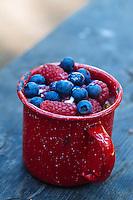 Fruit and yogurt.