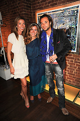 Left to right, HEATHER KERZNER, TANAZ DIZADJI and SACHA JAFRI at a private view of Sacha Jafri's paintings entitled 'London to India' held in aid of The Elephant Family charity at 23 Macklin Street, Covent Garden, London on 3rd June 2010.