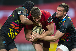 March 23, 2019 - Limerick, Ireland - Dan Goggin of Munster with the ball during the Guinness PRO14 match between Munster Rugby and Zebre at Thomond Park Stadium in Limerick, Ireland on March 23, 2019  (Credit Image: © Andrew Surma/NurPhoto via ZUMA Press)