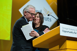 © Licensed to London News Pictures . 15/03/2015 . Liverpool , UK . NORMAN LAMB arrives to deliver his speech to the conference . The Liberal Democrat Party Conference at the Arena and Conference Centre in Liverpool . Photo credit : Joel Goodman/LNP