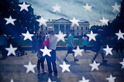 """People gather in front of the White House on Monday to celebrate the death of Osama bin Laden. Sunday night President Obama addressed the nation from the East Room of the White House saying a team of U.S. personnel attacked a compound Sunday in Pakistan's Abbottabad Valley. During a firefight, the U.S. team killed bin Laden, and took custody of his body in what Obama called """"the most significant achievement to date in our nation's effort to defeat al-Qaeda."""""""
