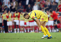Photo: Chris Ratcliffe.<br /> Switzerland v Ukraine. 2nd Round, FIFA World Cup 2006. 26/06/2006.<br /> Andriy Shevchenko of Ukraine after mssing his penalty.
