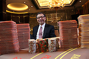 Francis Lui, deputy chairman of the Galaxy Entertainment Group, poses for photos in a VIP card room at Galaxy's Starworld Casino in Macau, China on 27 January 2011. A relative newcomer to the rapidly expanding Macau gambling scene, the Galaxy hopes its new casino will hold up its own against the likes of the Venetian, Wynn, MGM, and the Lisboa.