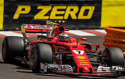 May 27, 2017 - Monte-Carlo, Monaco - Kimi Raikkönen of Finland and Scuderia Ferrari driver goes during the qualification on Formula 1 Grand Prix de Monaco on May 27, 2017 in Monte Carlo, Monaco. (Credit Image: © Robert Szaniszlo/NurPhoto via ZUMA Press)