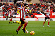 Sunderland midfielder Lewis Morgan (17), on loan from Celtic,  during the EFL Sky Bet League 1 match between Sunderland and AFC Wimbledon at the Stadium Of Light, Sunderland, England on 2 February 2019.
