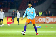 Netherlands Defender Virgil van Dijk (Liverpool) in warm up during the Friendly match between Netherlands and England at the Amsterdam Arena, Amsterdam, Netherlands on 23 March 2018. Picture by Phil Duncan.