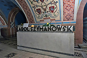 Kraków (woj.małopolskie) 05.11.2017. Grób Karola Szymanowskiego - Krypta Zasłużonych w Kościele na Skałce w Krakowie.