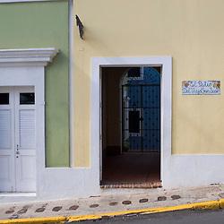 Doorways on Avenue Munoz Rivera near Fort San Cristobal in San Juan, Puerto Rico.