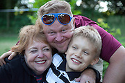 Three generations, grandma, son and grandson. Zawady Central Poland