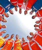 ROTTERDAM - HOCKEY -  Line up fiseye Nederlands Team voor  de oefenwedstrijd tussen de mannen van Nederland en Engeland (2-1) . FOTO KOEN SUYK