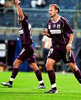 ◊Copyright:<br />GEPA pictures<br />◊Photographer:<br />Andreas Troester<br />◊Name:<br />Rushfeldt<br />◊Rubric:<br />Sport<br />◊Type:<br />Fussball<br />◊Event:<br />T-Mobile Bundesliga, Supercup, GAK Graz vs Austria Magna Wien<br />◊Site:<br />Graz, Austria<br />◊Date:<br />09/07/04<br />◊Description:<br />Radoslav Gilewicz, Sigurd Rushfeldt (A.Wien)<br />◊Archive:<br />DCSTR-0907041852<br />◊RegDate:<br />10.07.2004<br />◊Note:<br />8 MB - WU/WU