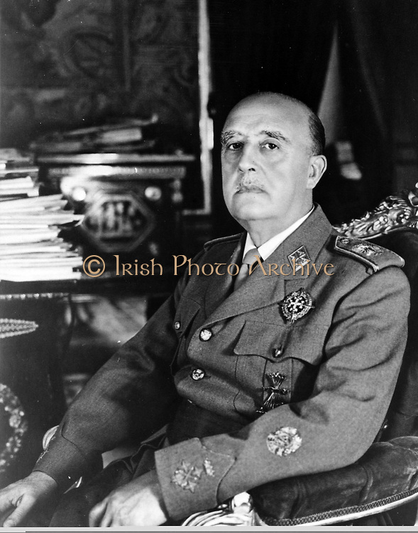 Francisco Franco (4 December 1892 – 20 November 1975), Spanish dictator, military general and head of state of Spain from October 1936 (whole nation from 1939 onwards), and de facto regent of the nominally restored Kingdom of Spain from 1947 until his death in November 1975