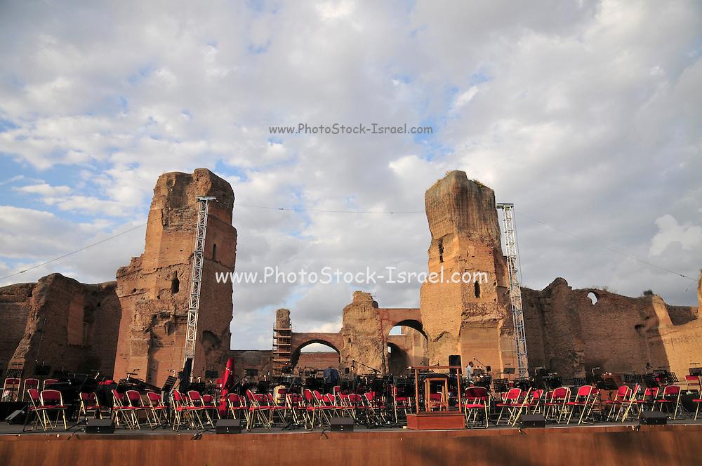 Rome, Italy Outdoor concert at The Baths of Caracalla (Terme di Caracalla)