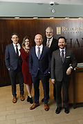 SHOT 1/8/19 12:13:37 PM - Bachus & Schanker LLC lawyers James Olsen, Maaren Johnson, J. Kyle Bachus, Darin Schanker and Andrew Quisenberry in their downtown Denver, Co. offices. The law firm specializes in car accidents, personal injury cases, consumer rights, class action suits and much more. (Photo by Marc Piscotty / © 2018)