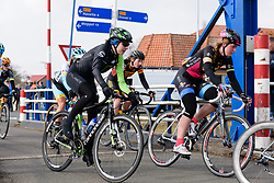 Marcella Toldi crosses the canal at Drentse 8 van Westerveld 2018 - a 142 km road race on March 9, 2018, in Dwingeloo, Netherlands. (Photo by Sean Robinson/Velofocus.com)