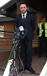 Ant McPartlin walks out of court smiling after getting a £86,000 pound fine in court for drink driving. 16 Apr 2018 Pictured: Ant McPartlin. Photo credit: Neil Warner/MEGA TheMegaAgency.com +1 888 505 6342