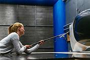 In Delft wordt de nieuwe VeloX  9 getest in de windtunnel. In september wil het Human Power Team Delft en Amsterdam, dat bestaat uit studenten van de TU Delft en de VU Amsterdam, tijdens de World Human Powered Speed Challenge in Nevada een poging doen het wereldrecord snelfietsen voor vrouwen te verbreken met de VeloX 9, een gestroomlijnde ligfiets. Het record is met 121,81 km/h sinds 2010 in handen van de Francaise Barbara Buatois. De Canadees Todd Reichert is de snelste man met 144,17 km/h sinds 2016.<br /> <br /> With the VeloX 9, a special recumbent bike, the Human Power Team Delft and Amsterdam, consisting of students of the TU Delft and the VU Amsterdam, also wants to set a new woman's world record cycling in September at the World Human Powered Speed Challenge in Nevada. The current speed record is 121,81 km/h, set in 2010 by Barbara Buatois. The fastest man is Todd Reichert with 144,17 km/h.