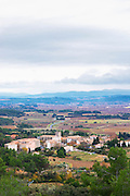 Azillanet Minervois. Languedoc. France. Europe. View over the Minervois plain.