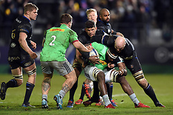 Tevita Cavubati of Harlequins is tackled by Matt Garvey of Bath Rugby - Mandatory byline: Patrick Khachfe/JMP - 07966 386802 - 10/01/2020 - RUGBY UNION - The Recreation Ground - Bath, England - Bath Rugby v Harlequins - Heineken Champions Cup