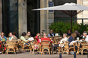 A cafe. Le Grand Bar. On Les Quais. Bordeaux city, Aquitaine, Gironde, France
