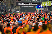 Solitary runner at San Silvestre popular race
