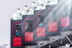 02.02.2019, Heini Klopfer Skiflugschanze, Oberstdorf, GER, FIS Weltcup Skiflug, Oberstdorf, im Bild Punkterichter // judges during his Jump of FIS Ski Jumping World Cup at the Heini Klopfer Skiflugschanze in Oberstdorf, Germany on 2019/02/02. EXPA Pictures © 2019, PhotoCredit: EXPA/ JFK