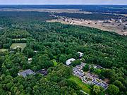 Nederland, Gelderland, Gemeente Ede, 21–06-2020;  Nationaal Park De Hoge Veluwe, Museum Kroller-Muller. Kröller-Müller Museum, hoofdgebouw.<br /> National Park De Hoge Veluwe, Museum Kroller-Muller (Kröller-Müller Museum).<br /> <br /> luchtfoto (toeslag op standaard tarieven);<br /> aerial photo (additional fee required)<br /> copyright © 2020 foto/photo Siebe Swart