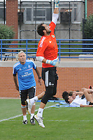 Football - Real Madrid Training for St. Louis Game against Inter Milan.  The Real Madrid team held a practice session on Thursday August 8, 2013 in St. Louis, Missouri, USA at the Robert Hermann Stadium located on the campus of St. Louis University in St. Louis.